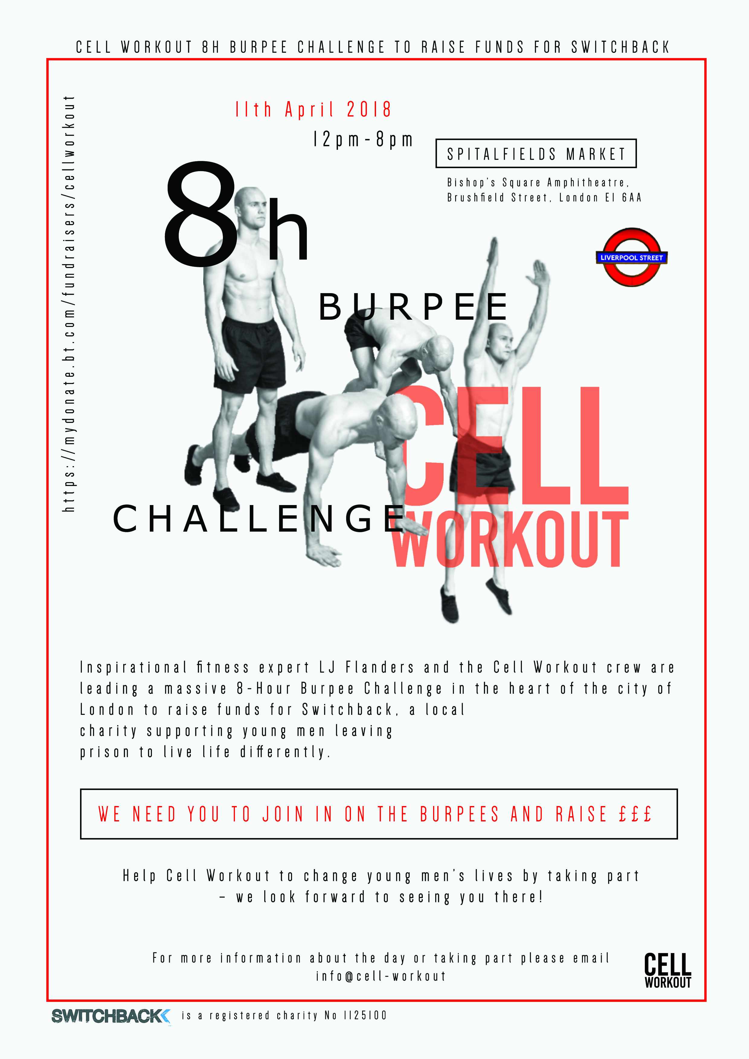cell workout gets physical for switchback get your burpees on